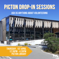Drop-in Sessions (Volunteer Marlborough in Picton)