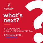 International Volunteer Managers' Day 2020